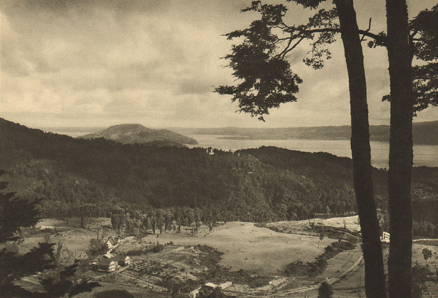 Associate Product CHILE. Termas de Puyehue. Spa springs 1932 old vintage print picture