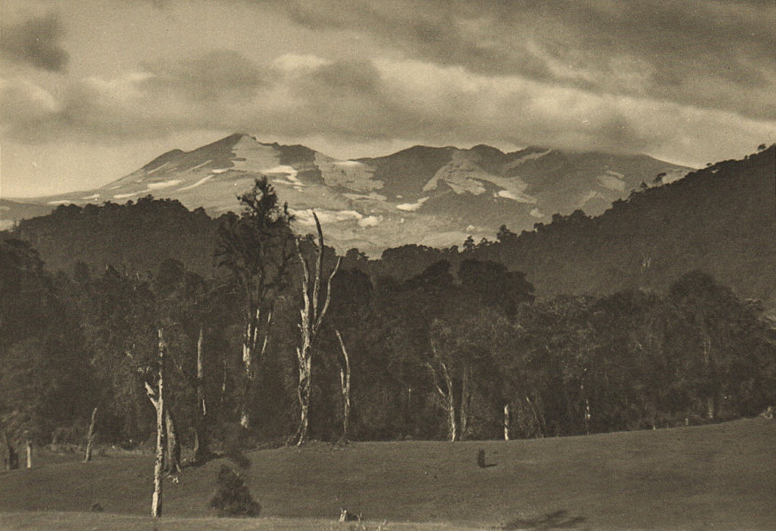 Associate Product CHILE. Volcan Puyehue visto desde las Termas. From the hot springs 1932 print