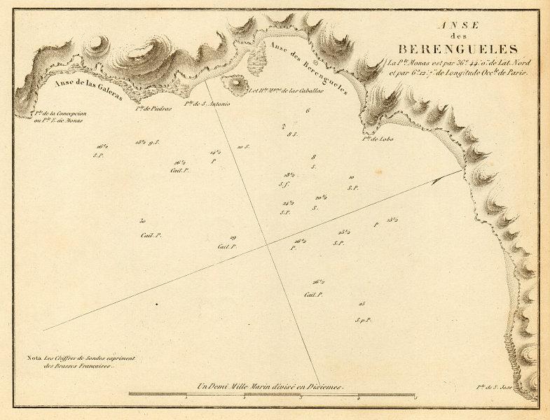 Associate Product Berengueles bay, La Herradura. 'Anse de Berengueles'. Spain. GAUTTIER 1851 map