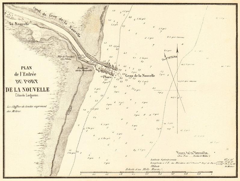 Associate Product Port-la-Nouvelle. 'L'entrée du Port de la Nouvelle'. Aude. GAUTTIER 1851 map