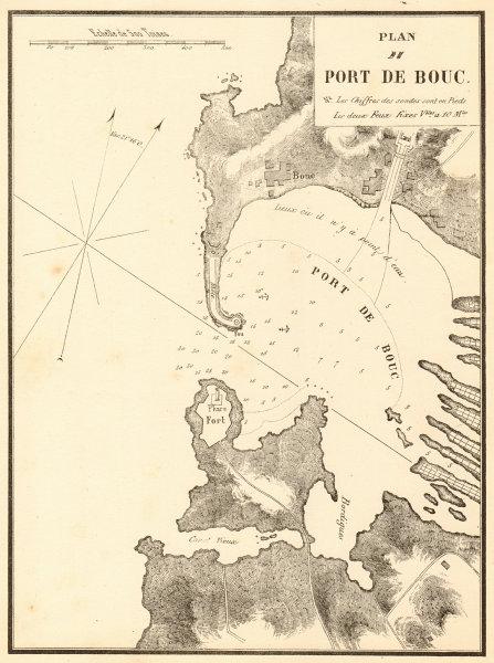 Associate Product Port-de-Bouc. 'Plan du Port de Bouc'. Bouches-du-Rhone. GAUTTIER 1851 old map