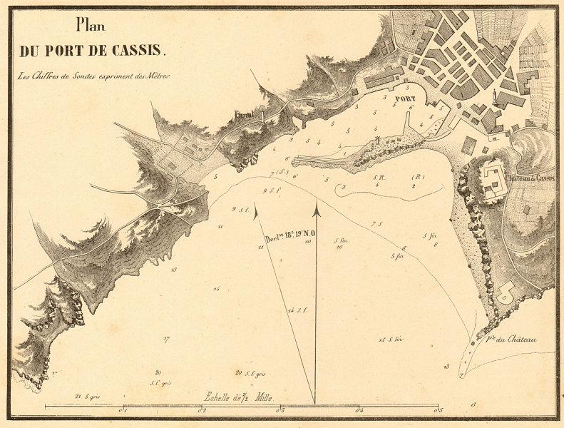 Associate Product Plan du Port de Cassis. Bouches-du-Rhone. GAUTTIER 1851 old antique map chart