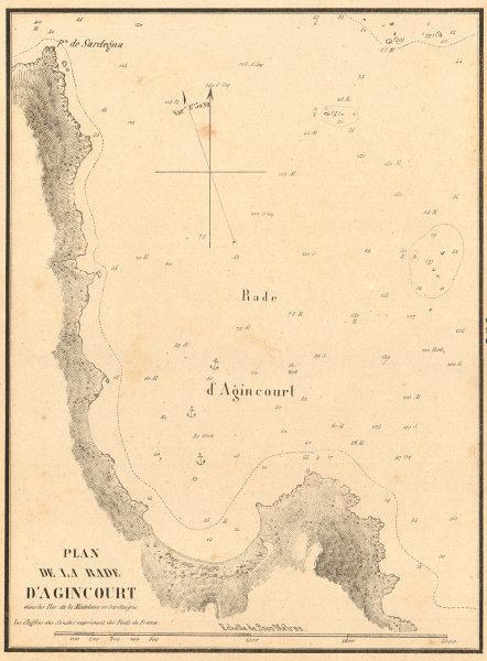 Associate Product Agincourt Sound, Port Rafael, Sardinia. 'La Rade d'Agincourt. GAUTTIER 1851 map