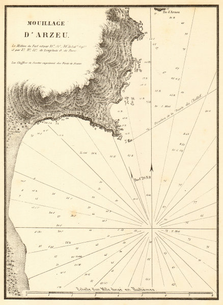 Associate Product The Port of Arzew. 'Mouillage d'Arzeu'. Algeria. GAUTTIER 1851 old antique map