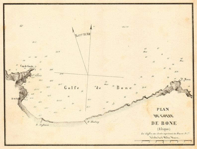 Associate Product Gulf of Annaba. 'Plan du Golfe de Bone (Afrique)'. Algeria. GAUTTIER 1851 map