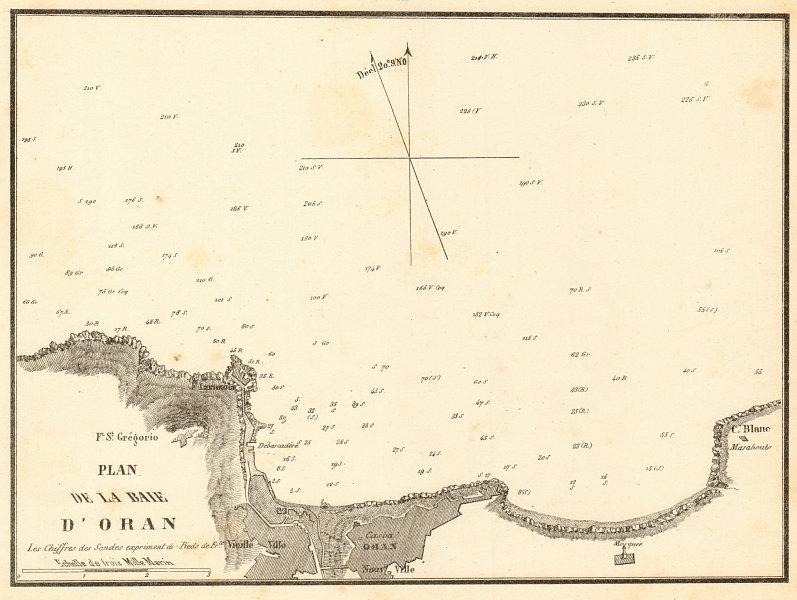 Associate Product The Bay of Oran. 'Plan de la Baie d'Oran'. Algeria. GAUTTIER 1851 old map