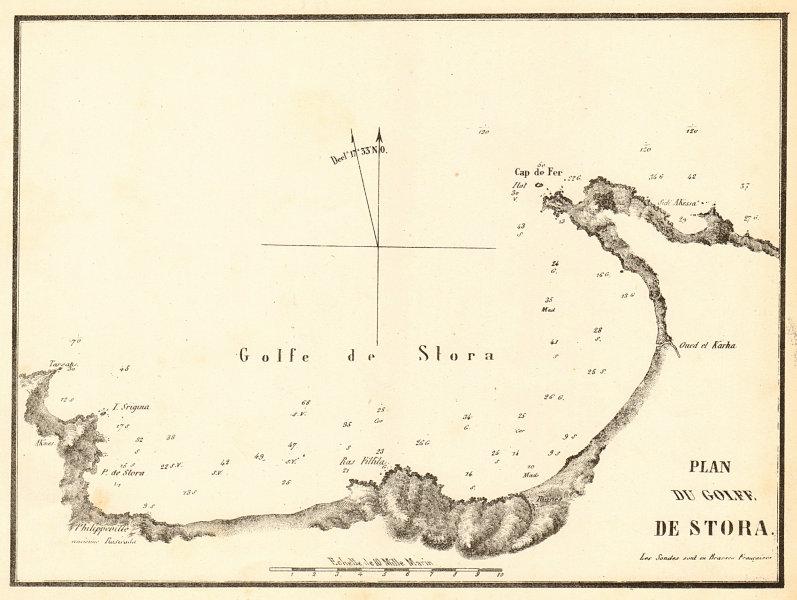 Associate Product The Gulf of Stora. 'Plan du Golfe de Stora'. Algeria. GAUTTIER 1851 old map