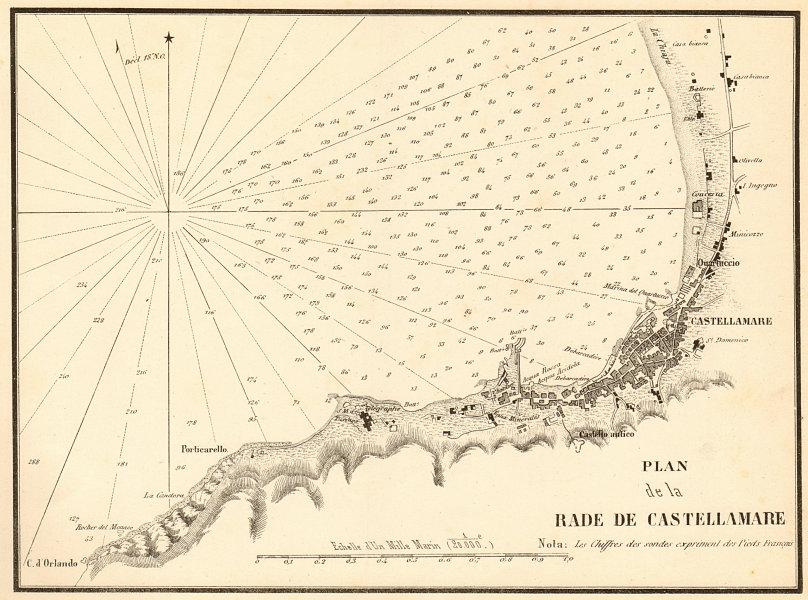 Associate Product Castellamare-di-Stabia. Plan de la Rade de Castellamare. Italy GAUTTIER 1851 map