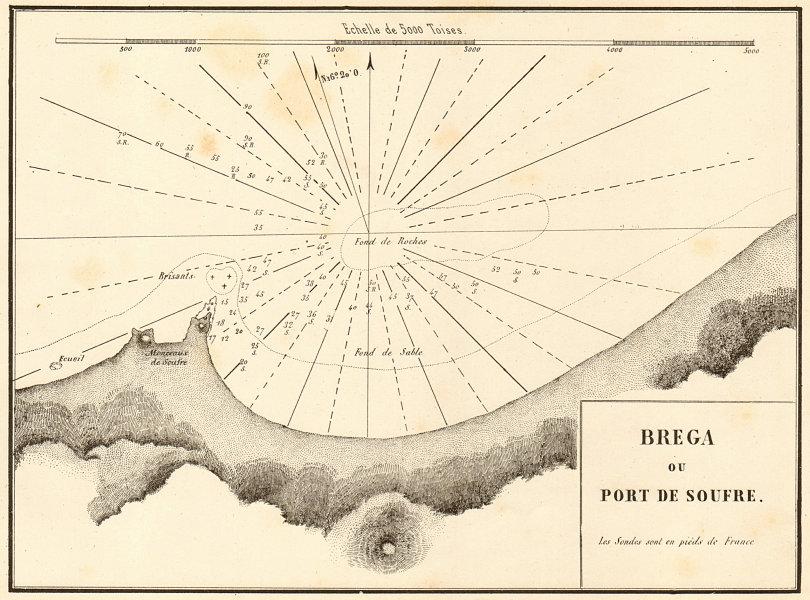Associate Product Marsa al Brega. 'Brega ou Port de Soufre'. Libya. GAUTTIER 1854 old map