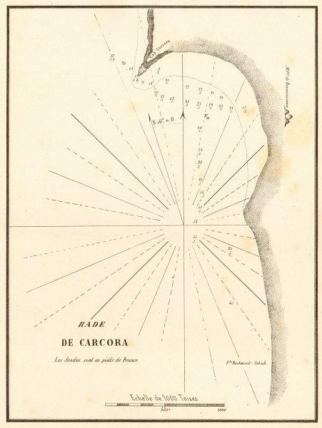 Associate Product Rade de Carcora. Libya. Alsahaba. South of Bengazi. GAUTTIER 1854 old map