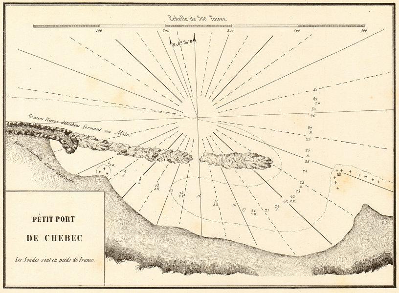 Associate Product Petit Port de Chebec. Possibly Mintaqat Wadi, nr Sirte. Libya. GAUTTIER 1854 map