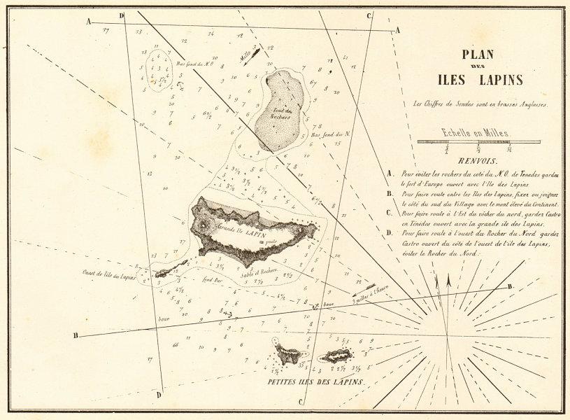 Associate Product Rabbit Islands (Tavsan Adasi). 'Plan des Iles Lapins'. Turkey. GAUTTIER 1854 map