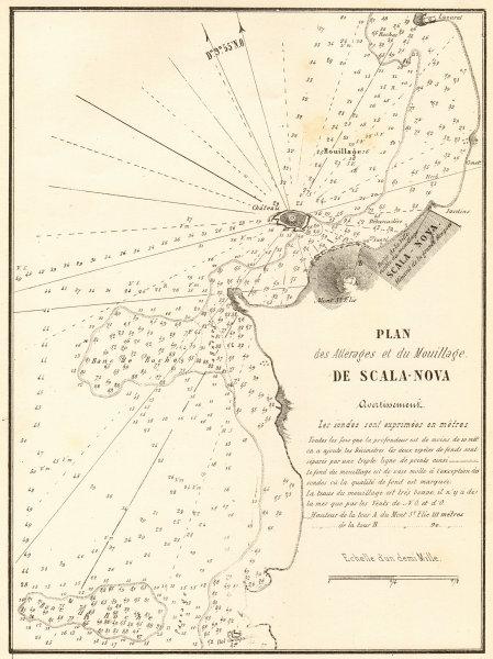 Associate Product Kusadasi. 'Atlerages et du Mouillage de Scala-Nova'. Turkey. GAUTTIER 1854 map