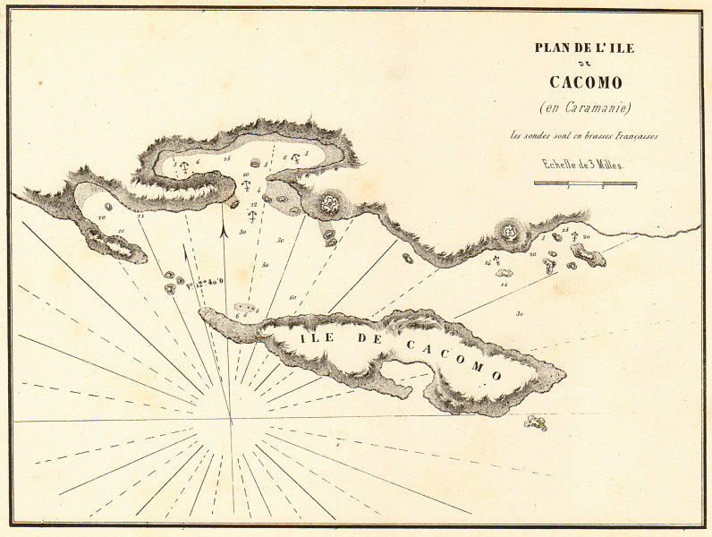 Associate Product Kekova Island. 'Plan de L'ile de Cacomo en Caramanie'. Turkey. GAUTTIER 1854 map