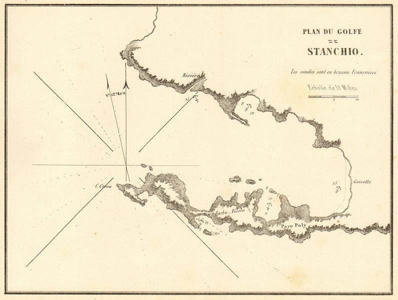 Associate Product Gulf of Gökova or Kos. 'Plan du Golfe de Stanchio'. Turkey. GAUTTIER 1854 map