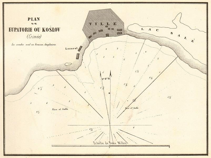 Associate Product Yevpatoriya. 'Plan de Eupatorie ou Koslov'. Crimea Ukraine. GAUTTIER 1854 map
