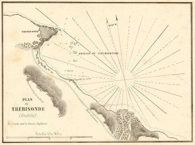 Associate Product Trabzon. 'Plan de Trebisonde (Anatolie)'. Turkey. Black Sea. GAUTTIER 1854 map