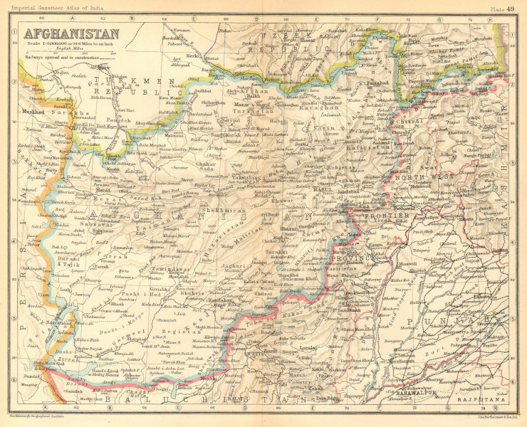 Associate Product Afghanistan & North-West Frontier 1931 old vintage map plan chart