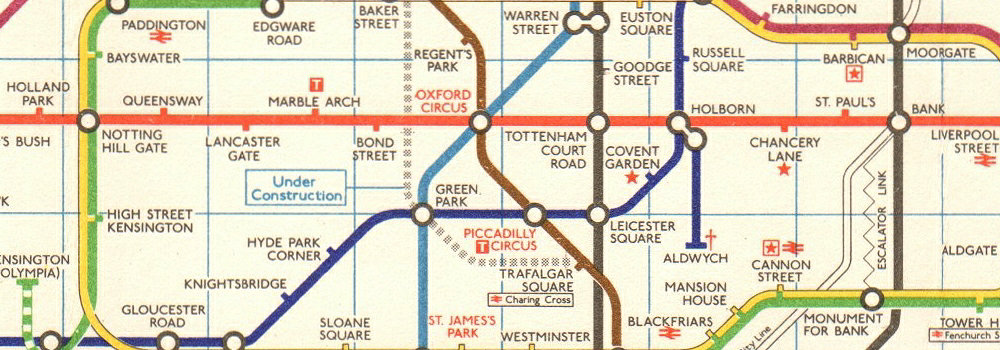 London Underground Tube Map Plan  Jubilee Line U