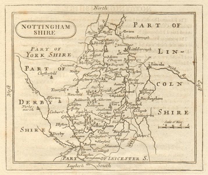 Associate Product Antique county map of Nottinghamshire. Francis Grose / John Seller 1795