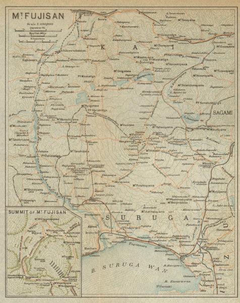 Associate Product Mount Fuji-san & environs. Japan 1914 old antique vintage map plan chart