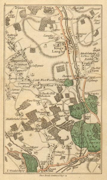 Associate Product WATFORD. Chorleywood, Kings Langley, Abbot's Langley, Hemel Hempstead 1811 map