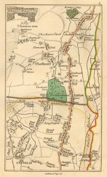 Associate Product ENFIELD. Cheshunt, Waltham Cross, Waltham Abbey, Wormley, Goff's Oak 1811 map