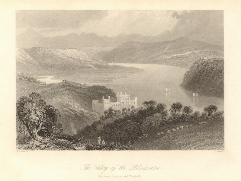 Strancally Castle, Blackwater Valley, Lismore/Youghall. Waterford, Ireland 1843
