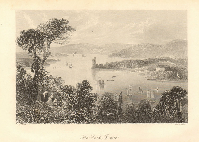 The Cork River, from below the Glanmire Road. Blackrock castle. Ireland 1843