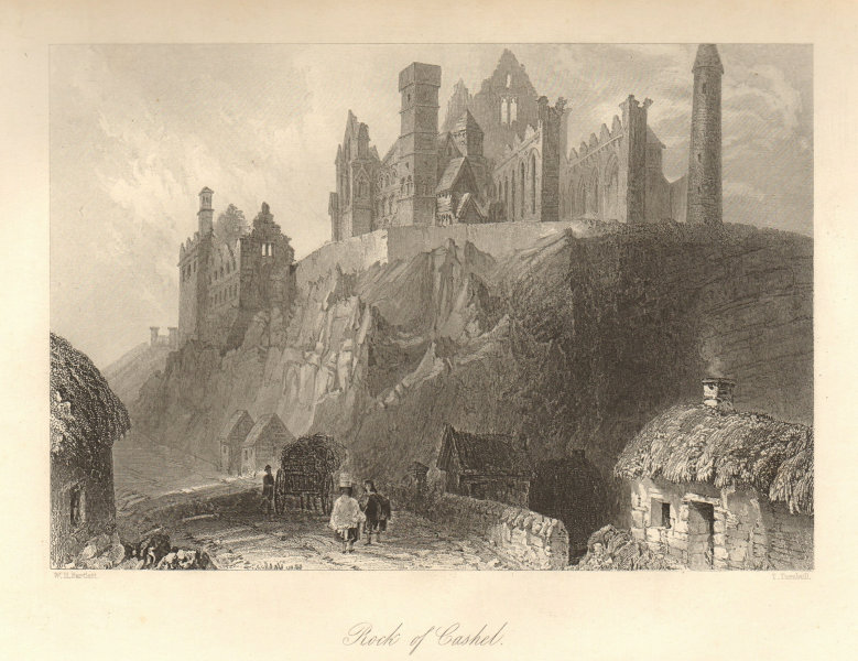 Associate Product Rock of Cashel, County Tipperary. Ireland 1843 old antique print picture