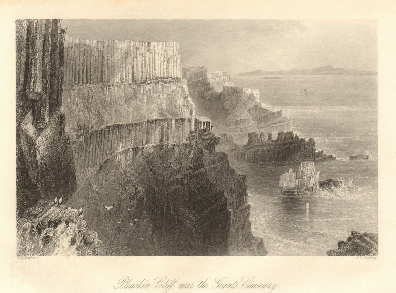 Pleaskin Head, near the Giant's Causeway, County Antrim. Ireland Ulster 1843