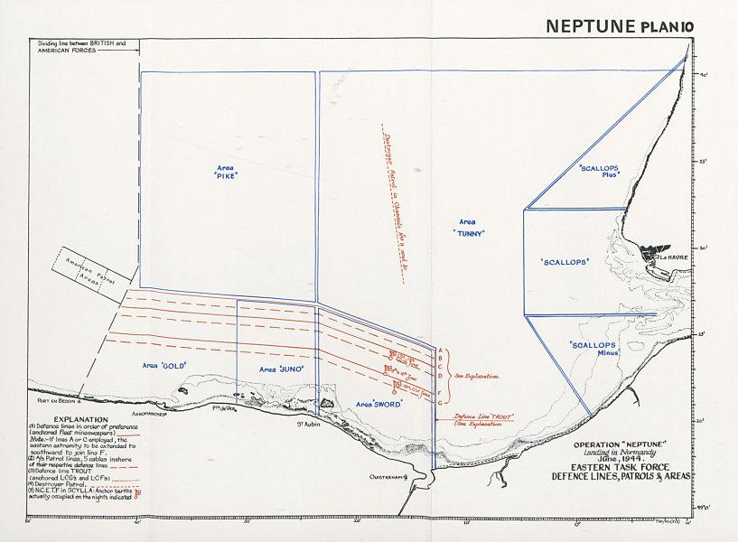 Associate Product Operation Neptune Normandy Landings D-Day June 1944. Eastern Task Force 1994 map