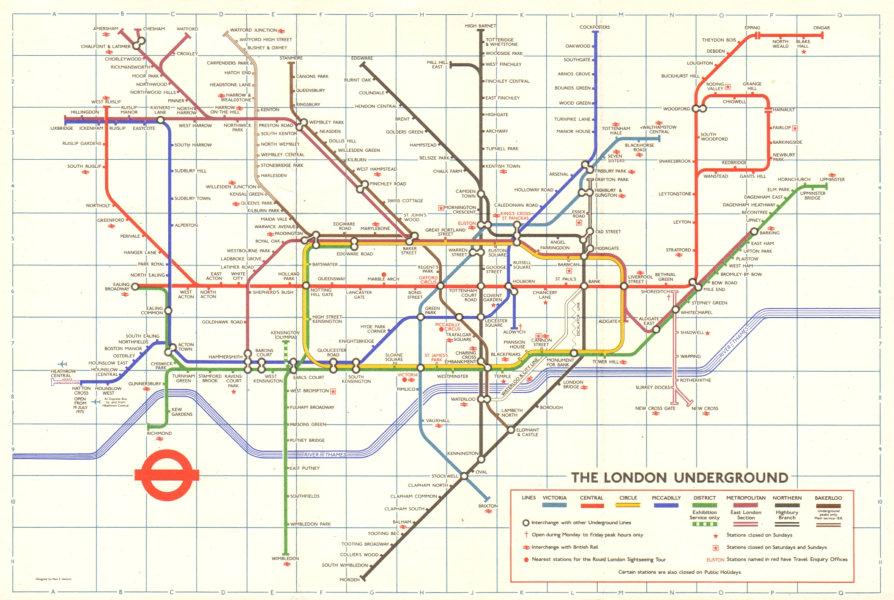 Associate Product LONDON UNDERGROUND tube plan map. Hatton Cross. Heathrow u/c. GARBUTT #1 1975