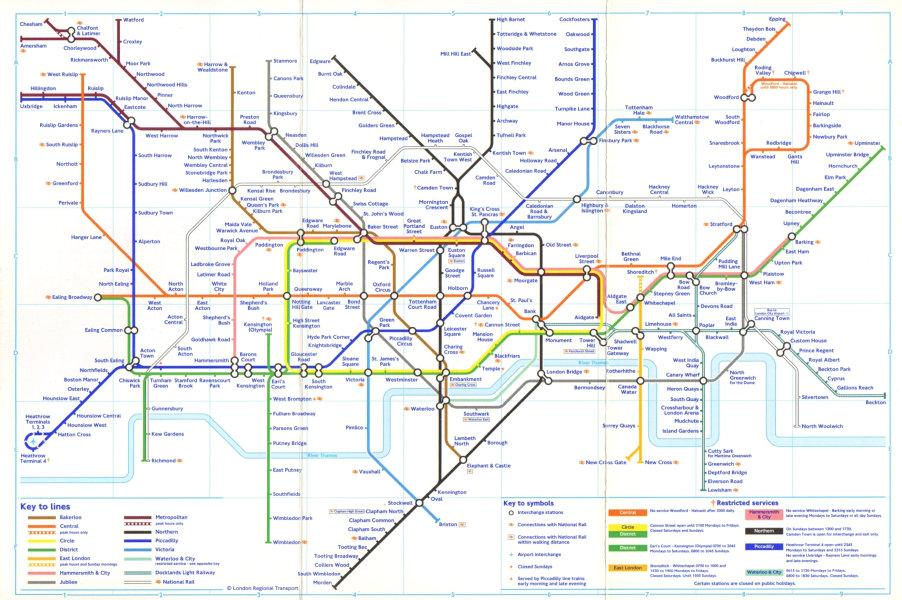 Associate Product LONDON UNDERGROUND tube map. Jubilee line Stratford extension. Lewisham DLR 2000