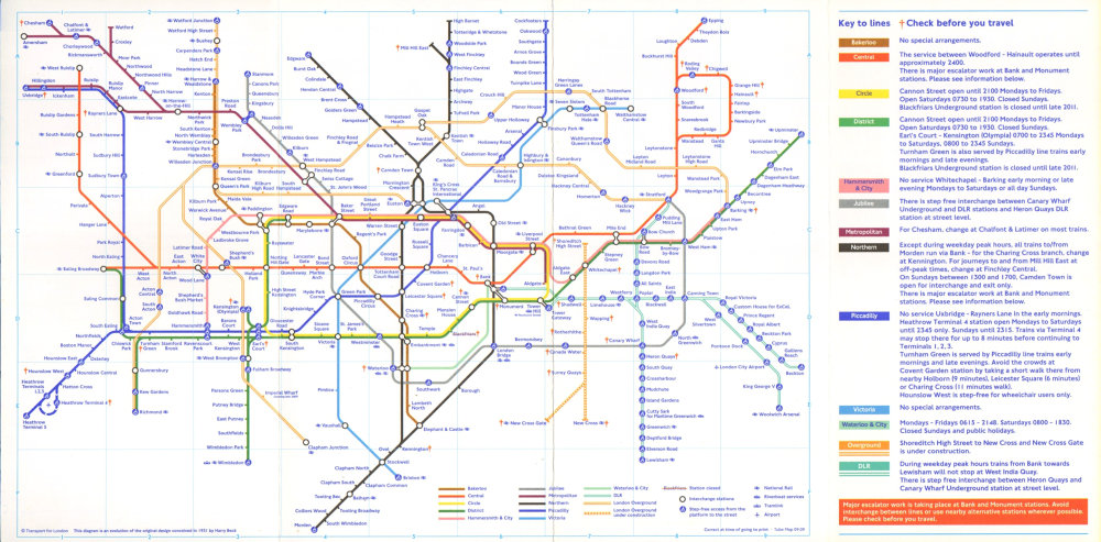 Associate Product LONDON UNDERGROUND tube plan map. London Overground. Thames not shown. T5 2009