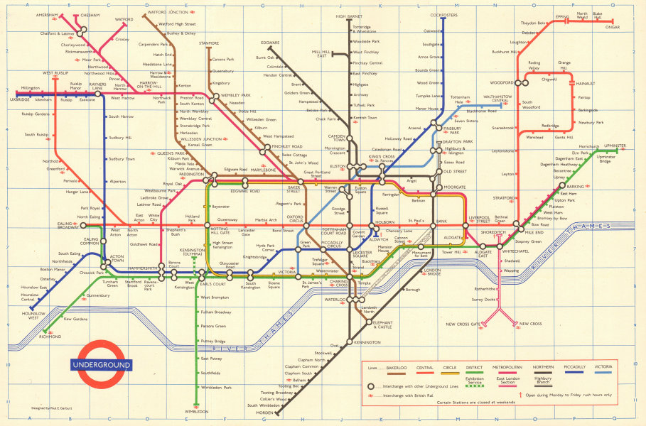 Associate Product LONDON UNDERGROUND tube map plan. Victoria Line open to Victoria. GARBUTT 1970