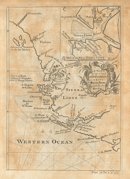 The coast & country about Sierra Lione & Sherbro River. S. Leone. SMITH 1745 map