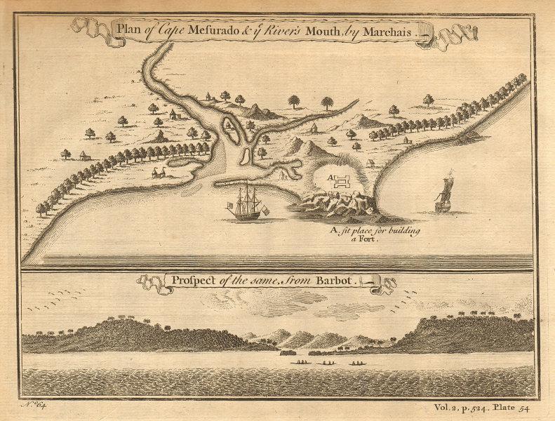 Cape Mesurado & [St Paul] River's Mouth. Monrovia, Liberia. MARCHAIS 1745 map