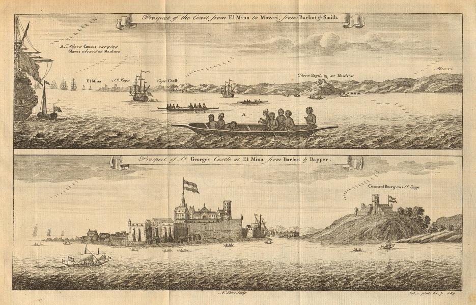 Ghana Cape Coast Moree. Elmina Castle. São Jorge da Mina. St. George/Mine 1745