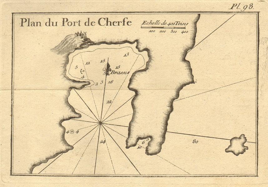 Plan du Port de Cherfe. Livadi bay, Serifos, Cyclades. Greece. ROUX 1804 map