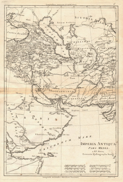 Imperia Antiqua, pars Media. Empire of Alexander the Great. BONNE 1787 old map