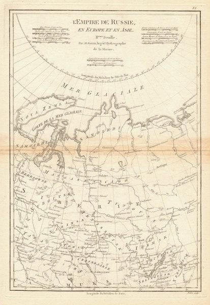 L'Empire de Russie en Europe et en Asie. 2nd sheet. Russia Centre BONNE 1788 map