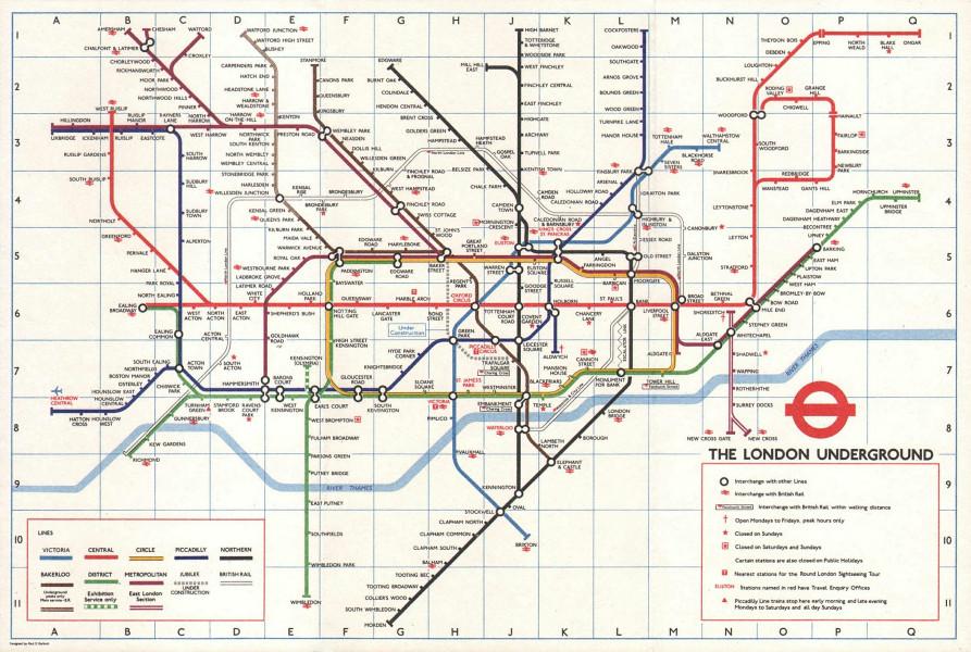 LONDON UNDERGROUND tube map plan. Jubilee line u/c Heathrow open GARBUTT #2 1978