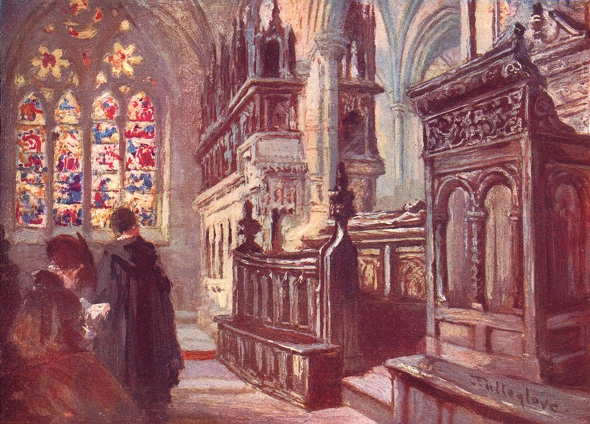 Associate Product OXFORD. Christ Church-Interior of Latin Chapel 1903 old antique print picture