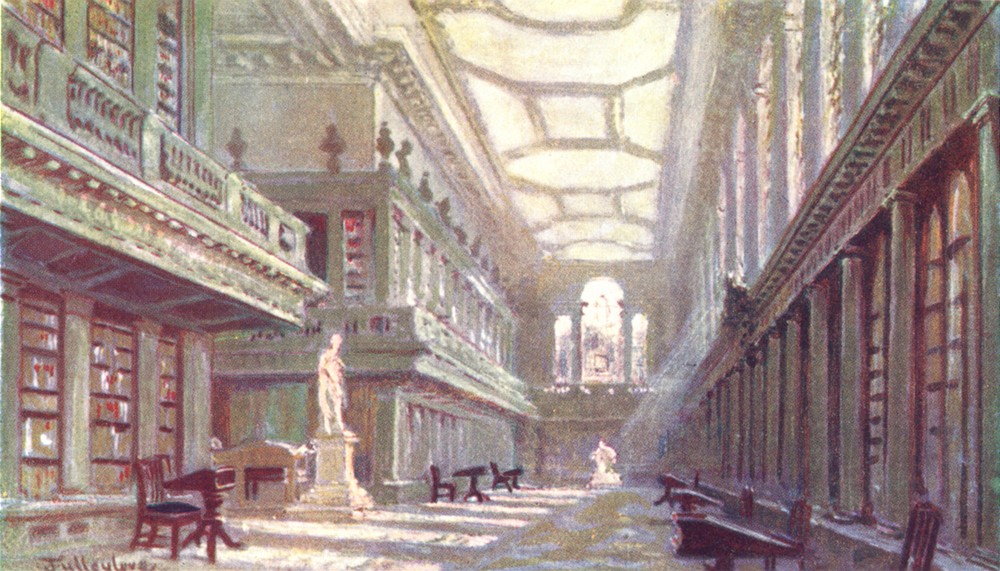 Associate Product OXFORD. Interior of the Library, all Souls College 1903 old antique print