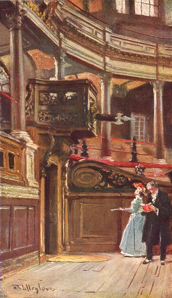 Associate Product OXFORD. Interior of the Sheldonian theatre 1903 old antique print picture