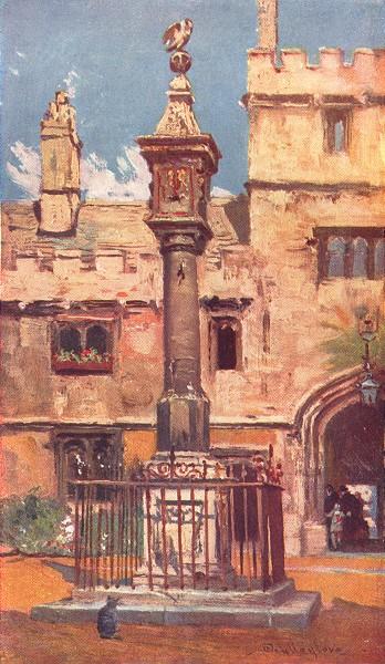 OXFORD. Corpus Christi College 1903 old antique vintage print picture