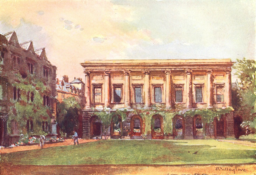 Associate Product OXFORD. The Library, Oriel College 1903 old antique vintage print picture