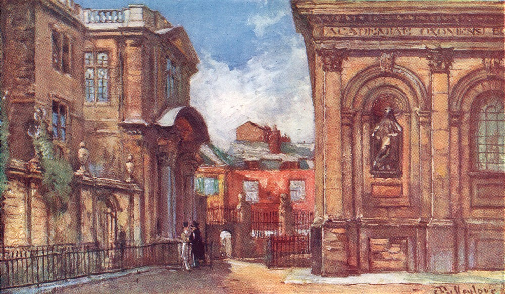 Associate Product OXFORD. The Old Ashmolean Museum and Sheldonian Theatre 1903 antique print