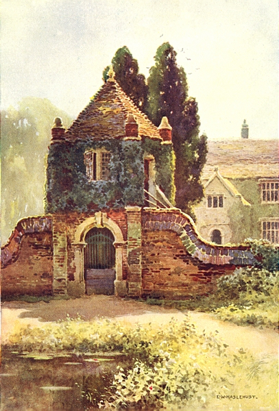 Associate Product Gateway, Poxwell Manor house. Dorset. By Ernest Haslehust 1920 old print